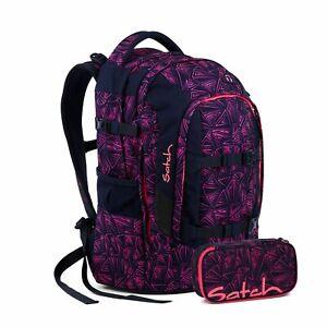 Satch Pack Pink Bermuda Schulrucksack Set 2tlg.