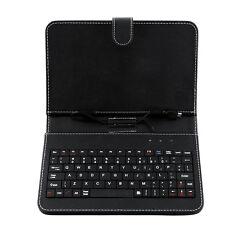 Custodia stand pelle nera con mini tastiera USB MICRO PER Tablet 7 pollici