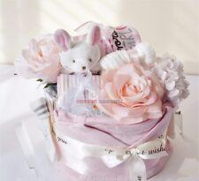 Newborn Baby Diaper Cake, Newborn Baby Shower Gift Set/Hamper, Baby Girl Gift
