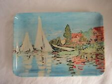 "Small Melamine Tray ""Regatta at Argenteuill"" by Monet Made in Italy"