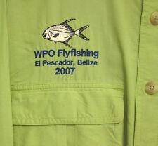 WPO Flyfishing med shirt El Pescador BELIZE fishing 2007 Deke Ambergris Cay DEKE