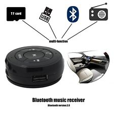 Car Wireless Bluetooth Phone Music Receiver Adapter Aux TF Handsfree