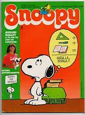 SNOOPY mensile N.9 Rizzoli 1988 peanuts calvin hobbes sansone leo verdura schulz