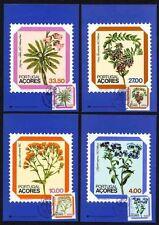 Azoren 349/52 Maximumkarten Blumen u.a. Glockenblume