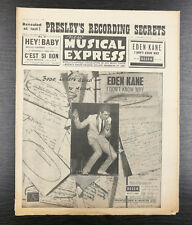 NME: New Musical Express feat Elvis, Sammy Davis, May 11th 1962