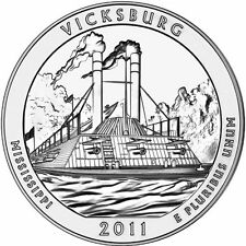 2011 5 oz America The Beautiful ATB Vicksburg Silver Coin .999 Fine