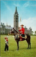 RCMP Mountie Child Horse Royal Canadian Mounted Police Ottawa ON Postcard F18
