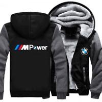 Warm Thicken BMW Hoodie Jacket Cosplay Sweater fleece coat Zipper Team Race