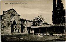 Primi '900 Fiesole Convento Chiesa San Francesco Giardino FP B/N