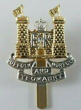 Staybrite Suffolk and Norfolk Yeomanry Regiment Cap Badge Anodised Gaunt London
