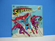 The Adventures of Superman Paperback Children's Book 1982 DC Comics Golden Relf