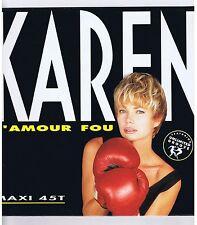 "MAXI 45 RPM 12"" KAREN CHERYL L'AMOUR FOU"