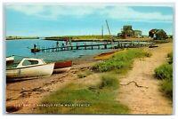Postcard Southwold Harbour from Walberswick Suffolk