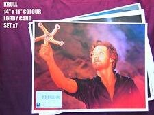 """RARE VINTAGE 14""""x11"""" US LOBBY CARD STILL SETx7 - KRULL - KEN MARSHALL"""