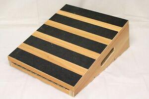 STRONGTEK Adjustable Slant Incline Board Wooden Calf Stretcher Professional