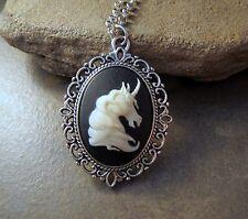 Handmade Victorian Unicorn Cameo Necklace