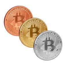 scarlet gifts Münze »Bitcoin« Edelmetallauflage 24-Karat Gold, Silber, Kupfer