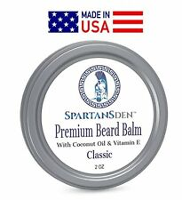 Beard Balm Leave In Conditioner Coconut Oi Men Grooming Itch & Tame Growth 2 Oz.