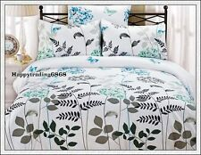 White Green Aqua Tree Flora Butterfly Soft Jacq. KING Quilt Doona Cover Set New