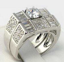 Wedding Ring Set - Size 6 Ultramodern 4.67 Ct. Cubic Zirconia Bridal Engagement