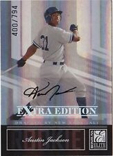2007 Donruss Elite AUSTIN JACKSON Auto RC Rookie Card Extra Edition #d 794
