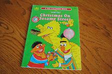Christmas on Sesame Street Big Bird Bert Ernie Coloring Book 1985 Golden Vintage