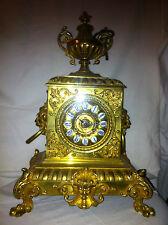 OROLOGIO DA TAVOLO BRONZO DORATO FINE '800  TABLE CLOCK BRONZE GOLDEN