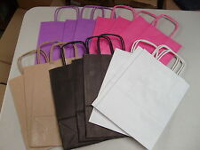 15 Small Mixed Paper Bags Twist Handle Gift Bags Pink White Black Brown Purple