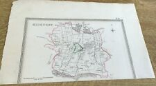 Antique Map Midhurst Showing Boundary Of Borough By S Lewis C 1835 Walker