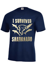 I Survived Sharknado T-Shirt Assorted Colors Kids & Adult Size S-5XL Must Have!!