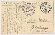 Heidelberg  Offizier  Gefangenlager  Lagerstempel  1917  ww1 Weltkrieg AK (183