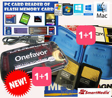 PC CARD READER NeW+8MB+16MB SMARTMEDIA CARD-FUJI+BlueBox-KORG-YAMAHA-ROLAND BOSS