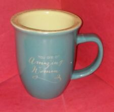 "Abbey Press ""You Are An Amazing Woman"" Green Coffee Mug Tea Cup"