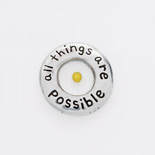 Genuine MUSTARD SEED Pewter Lapel Pin All Things Are Possible Christian