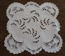 Antique Set Linen Needle Lace Doilies Table Mats Cutwork Embroidery