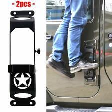Side Steps for Jeep Wrangler JK 2007-2018 Door Hinge Side Foot Rest Pedal Step