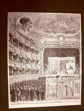 Milano nel 1882 Teatro Manzoni La prima della Sarah Bernhardt Dame aux Camelias