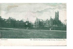 Postcard Assembly Hall Smith College Buildings Northampton MA Souvenir Company