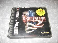 RESIDENT EVIL 2 W/MANUAL sony playstation 1 COMPLETE video game PS1