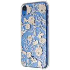 Kate Spade Hardshell Case for Apple iPhone XR - Clear / Pink Blossoms / Gems
