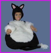 ** Lillian Vernon Black & White 6-Piece Cat Suit / Costume Size: 6-8 NEW **