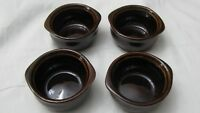 New World Ultima Ceramic Brown French Onion Soup / Crocks Bowl Set of 4