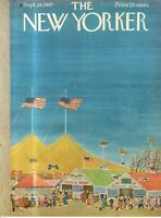1957 New Yorker Sept 28 Cover only - County Fair Days - Rare
