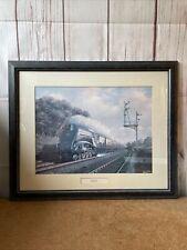 Eisenbahn Dampfzug Locomotive Gerahmt Kunstdruck Sir Nigel Gresley Barry Preis