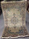 4X6 FT Very Rare Handmade Ghoum Kashaan Design  high quality Pure Silk Kashmiri