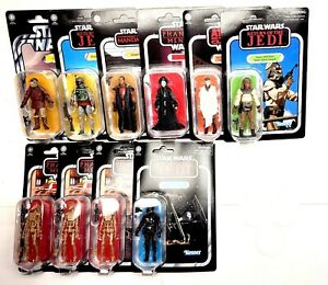 Hasbro Star Wars The Vintage Collection Lot of 3.75 Action Figures w/Stands