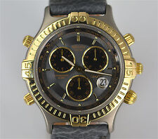 Rodania Chronograph Thierry Boutsen Formula1 Armbanduhr  Edit.500 Titan/Gold 750