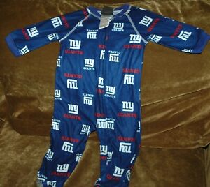 New York Giants INFANT SLEEPER size 12 months pajamas vintage NFL