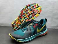 NEW Nike Air Zoom Wildhorse 5 Trail Running Shoes Teal AQ2222-300 Men's Size 10