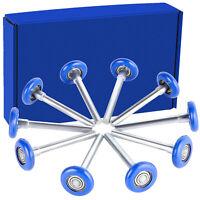 "10 Blue Heavy Duty High Cycle Garage Door Rollers 13 6200ZZ Bearings 4"" Stem"